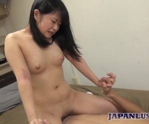 Amateur Japanese Teen Takes Fingers And Cock In Shaved Pussy