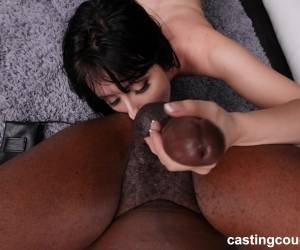 Brunette Babe Daphne Sucks And Rides A Big Black Dick