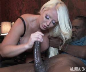 Busty Blonde Alura Jenson Fucked And Creampied By An Older Black Guy