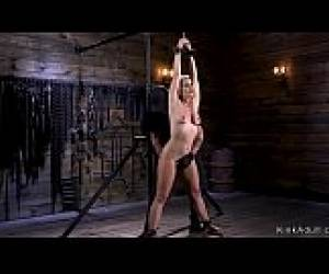 Big Ass Blonde Anal Fisted In Bondage