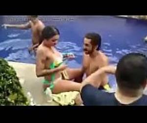Indian Actress In Pool Gauhar Khan Pool Party Dani Daniels Gianna Michaels
