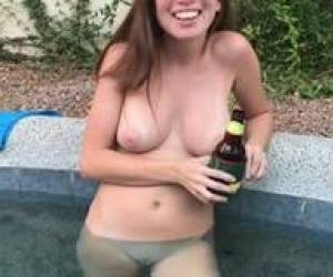 Wasted Drunk Pool Girl Nude