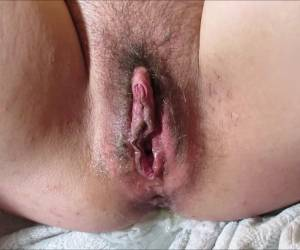 Lexi Pushing Out Big Creampie Hairy Pussy Accidental Piss