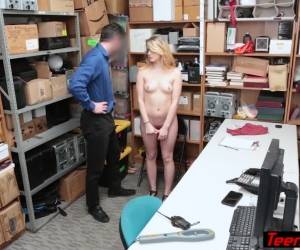 Cute Teen Thief With Glasses Fucked By A LP Officer