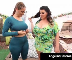 Curvy Cuban Angelina Castro StrapOn Stuffs Thick Ms. Raquel!