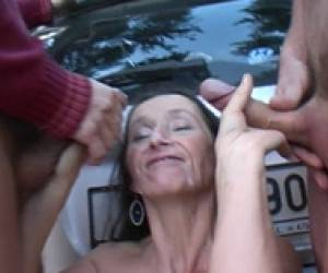 Mature Slut Miska Fucked Outdoors
