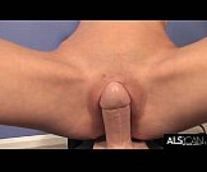 Slender Teen Kacey Chase Does Yoga Before Riding Sybian
