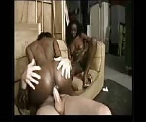 Real Ebony Twins Threeway