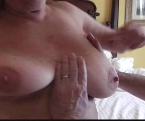 Natural Big Tits Mature Martiddds Selfsucks Nipples