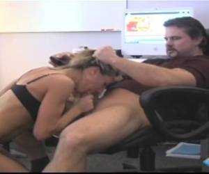 Brandi Love - Milf Brandi Love Blows Boss In The Office To Get Ahead