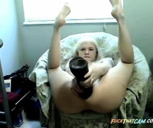Webcam Teen Extreme Giant Dildo Anal Gape