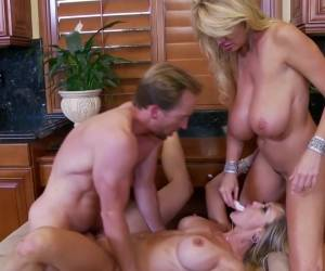 PORNFIDELITY- Kelly Madison Fucks Brandi Love With A Toy Made Of Frozen Cum