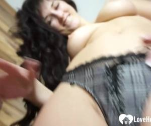 Aroused Teen With Big Tits Fingers Herself