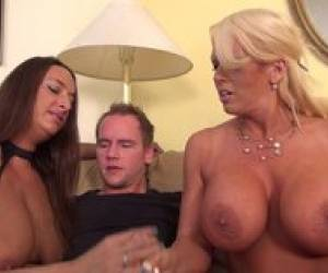 Two Very Horny Amazons Rape A Dude Hd V