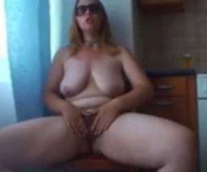 Bbw Penetrating Her Pussy With A Dildo