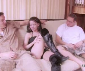 18yr Old German Teen Talk Into Hardcore Threesome For Money