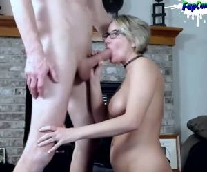 Hot Busty Milf Rimming Fucking And Sucking Big Cock On Webcam