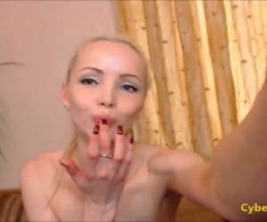 Skinny Blonde Fucked And Cum On Pussy