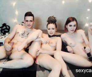 Hardcore Threesome With Two Slutty Russian Camwhores