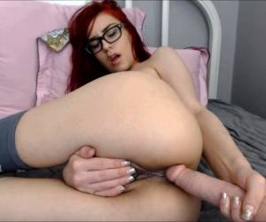 Teen Redhead Masturbation With Dildo