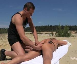 Sexy Milf Gets Anal Fucked At The Beach