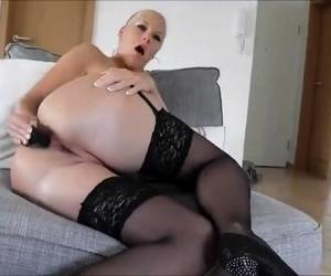 Huge Anal Toys For A Blonde MILF