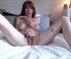 Teen Redhead Busty In Webcam Chat