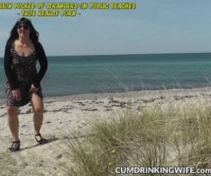 Dogging Wife Marion Gangbanged On Public Beaches