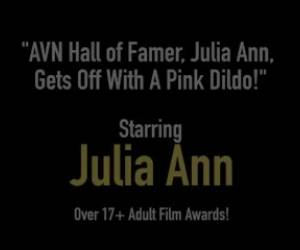 AVN Hall Of Famer, Julia Ann, Gets Off With A Pink Dildo!