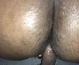 Ebony Homemade Big Ass Cumshot
