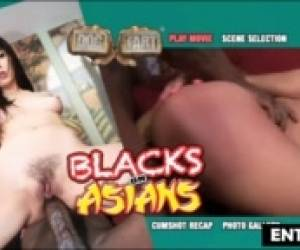 PETITE ASIAN CUTIE GAGS ON MANDINGO BBC