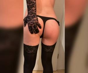 SissySvenja95 #27 - Wearing Just A Tiny Black Sissy String