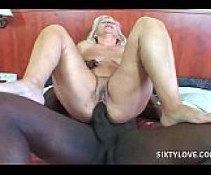 Hardcore Interracial Sex For Blonde Mature