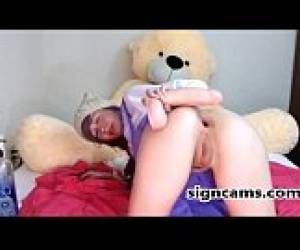 Teen Anal Dildo Riding