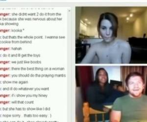 Tricked A Guys Black Roommate Into Flashing Her Pussy On Omegle