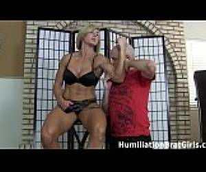 Slave Worships Goddess Rapture&#039_s Muscles