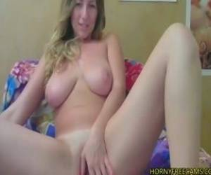 Blonde Cowgirl With Big Natural Tits Fucks Cunt And Ass