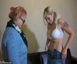 OldNanny Young And Old Lesbian Couple Masturbate With Sextoy